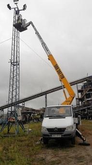 Podnośnik Koszowy prace wysokościowe Paczków  Prudnik  Grodków  Niemodlin